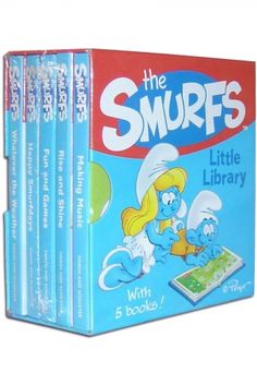 Фото The Smurfs Little Library 5 Board Books Set.