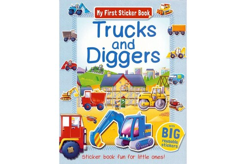 Фото Trucks and Diggers Sticker book.
