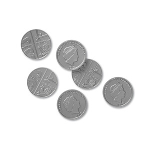 Play Money - Five Pence Pieces