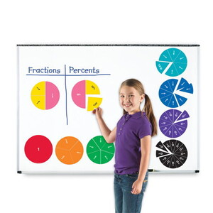 Double-Sided Magnetic Demonstration Rainbow Fraction® Foam Circles