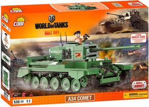 Конструктор Танк A34 Comet, World of Tanks, Cobi