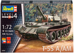 Танк T-55 A/AM, 1:72, Revell