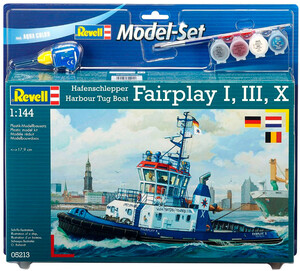 Model Set Портовый буксир Harbour Tug Boat Fairplay I, III, X, XIV; 1:144, Revell