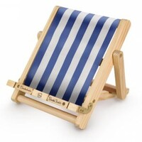 Deckchair Bookchair Stripy Blue