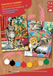 Набор для творчества PAINTING BY NUMBERS JUNIOR-PAIRS Cats Sequin Art