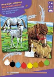 Набор для творчества PAINTING BY NUMBERS JUNIOR-PAIRS Horses Sequin Art