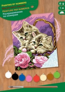 Набор для творчества PAINTING BY NUMBERS JUNIOR Floral Kittens Sequin Art