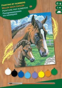 Набор для творчества PAINTING BY NUMBERS JUNIOR Horse and Foal Sequin Art