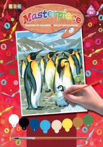 Набор для творчества PAINTING BY NUMBERS JUNIOR Penguins Sequin Art