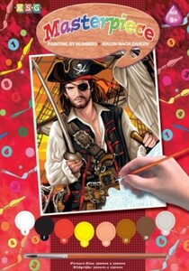 Набор для творчества PAINTING BY NUMBERS JUNIOR Pirate Sequin Art