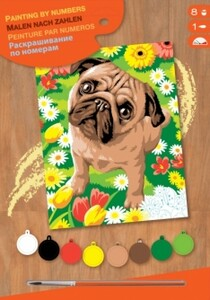 Набор для творчества PAINTING BY NUMBERS JUNIOR Pug Sequin Art