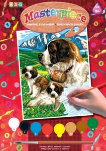 Набор для творчества PAINTING BY NUMBERS JUNIOR St Bernards Sequin Art