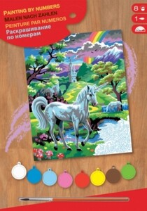Набор для творчества PAINTING BY NUMBERS JUNIOR UNicorn Sequin Art