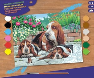 Набор для творчества PAINTING BY NUMBERS SENIOR Basset Hounds Sequin Art