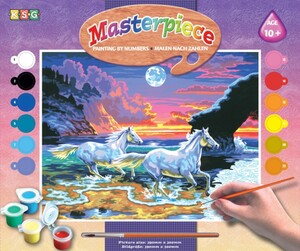 Набор для творчества PAINTING BY NUMBERS SENIOR Horses in the Surf Sequin Art