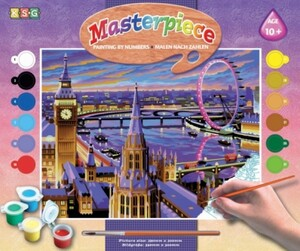 Набор для творчества PAINTING BY NUMBERS SENIOR London Sequin Art