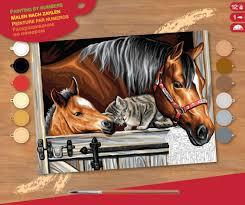 Набор для творчества PAINTING BY NUMBERS SENIOR Stable Dooor Trio Sequin Art