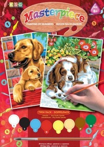 Набор для творчества PAINTING BY NUMBERS JUNIOR-PAIRS Dogs Sequin Art
