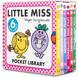 LITTLE MISS POCKET LIBRARY 6 BOARD BOOKS COLLECTION