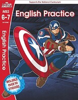 Captain America. English Practice. Ages 6-7