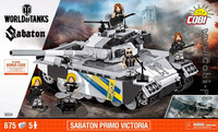 Конструктор Танк Сабатон Примо Виктория, World Of Tanks, Cobi