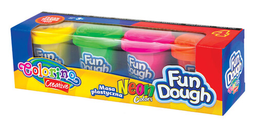 Набор массы для лепки Fun Dough, 4 неоновых цвета, Colorino