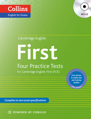 Фото Four Practice Tests for Cambridge English with Mp3 CD: First (9780007529544).