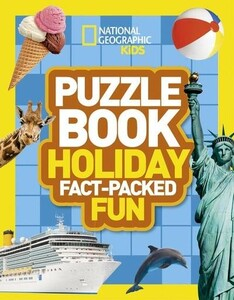 Puzzle Book Holiday Brain-Tickling Quizzes, Sudokus, Crosswords and Wordsearches - National Geograph