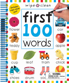 Wipe Clean: First 100 Words - Extended Edition