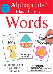Alphaprints: Wipe Clean Flash Cards Words
