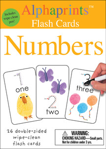 Alphaprints: Wipe Clean Flash Cards Numbers