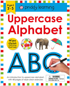 Wipe Clean Workbook Uppercase Alphabet (enclosed spiral binding)
