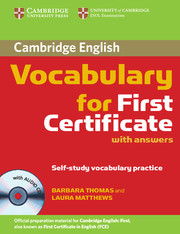 Cambridge Vocabulary for First Certificate with Audio CD