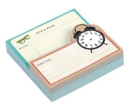 Shaped Memo Pads: Vintage Clock