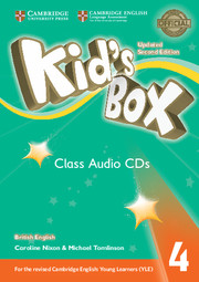 Kid's Box Updated 2nd Edition 4 Class Audio CDs (3)