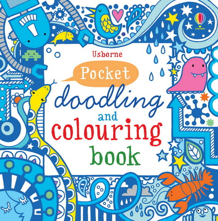 Фото Pocket doodling and colouring book: Blue.