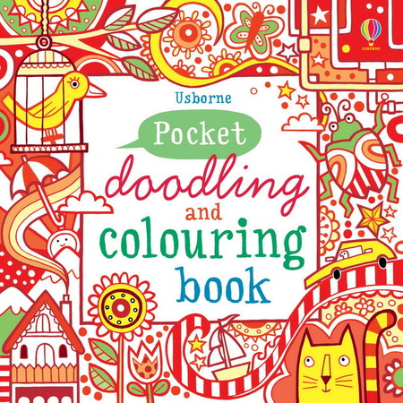 Фото Pocket doodling and colouring book: Red.