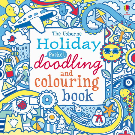Holiday pocket doodling and colouring book