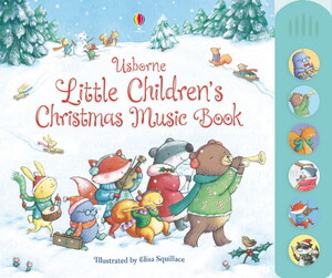 Little children's Christmas music book with musical sounds