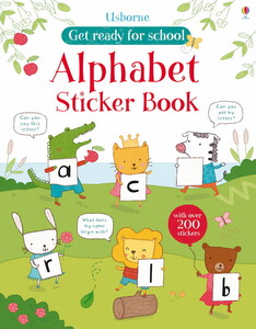 Get ready for school alphabet sticker book