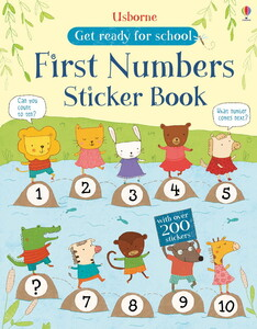 Get ready for school first numbers sticker book