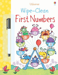 Wipe-clean first numbers with pen