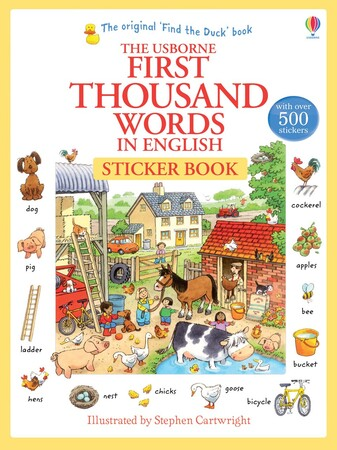 Фото First Thousand Words in English Sticker Book.