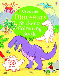 Dinosaurs Sticker and Colouring Book