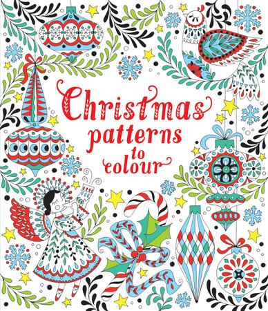 Фото Christmas patterns to colour.