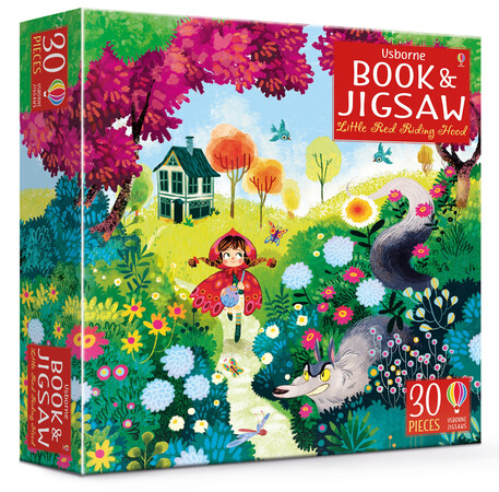 Фото Little Red Riding Hood picture book and jigsaw.