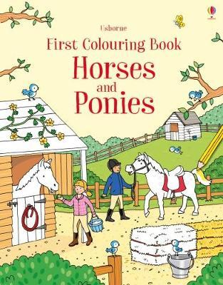 Horses and ponies - First colouring book