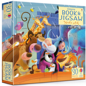Noahs Ark picture book and jigsaw