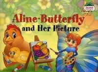 ЧВ Бабочка Алина и ее картина. Aline-Butterfly and Her Picture