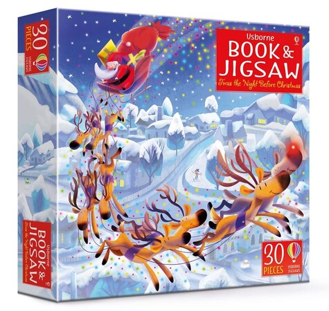 Фото 'Twas the Night Before Christmas picture book and jigsaw.